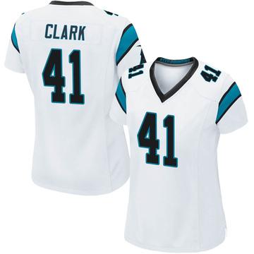 Women's Nike Carolina Panthers Darius Clark White Jersey - Game