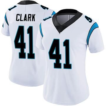 Women's Nike Carolina Panthers Darius Clark White Vapor Untouchable Jersey - Limited