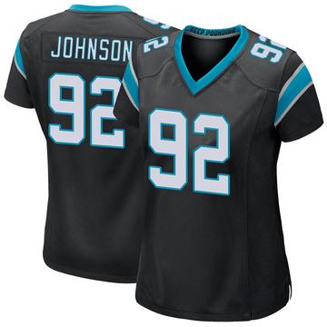Women's Nike Carolina Panthers Darryl Johnson Black Team Color Jersey - Game