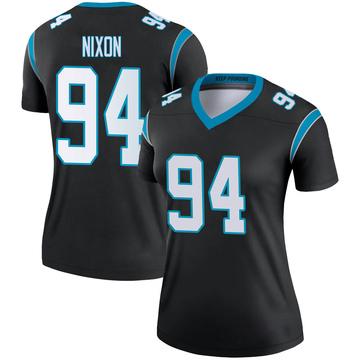 Women's Nike Carolina Panthers Daviyon Nixon Black Jersey - Legend