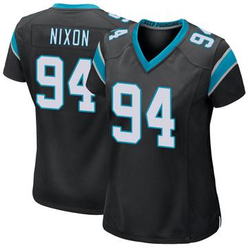 Women's Nike Carolina Panthers Daviyon Nixon Black Team Color Jersey - Game