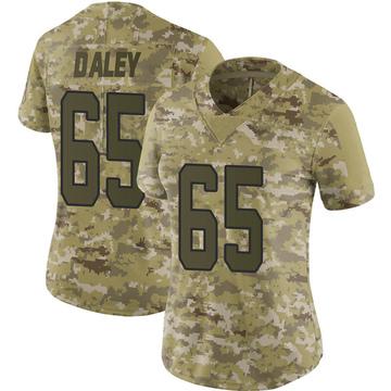 Women's Nike Carolina Panthers Dennis Daley Camo 2018 Salute to Service Jersey - Limited