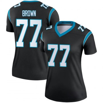 Women's Nike Carolina Panthers Deonte Brown Black Jersey - Legend