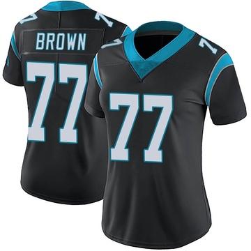 Women's Nike Carolina Panthers Deonte Brown Black Team Color Vapor Untouchable Jersey - Limited