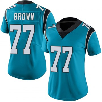 Women's Nike Carolina Panthers Deonte Brown Blue Alternate Vapor Untouchable Jersey - Limited