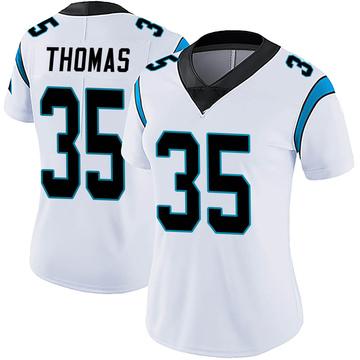 Women's Nike Carolina Panthers Derrek Thomas White Vapor Untouchable Jersey - Limited