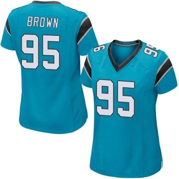 Women's Nike Carolina Panthers Derrick Brown Blue Alternate Jersey - Game
