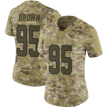 Women's Nike Carolina Panthers Derrick Brown Brown Camo 2018 Salute to Service Jersey - Limited