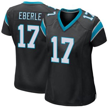 Women's Nike Carolina Panthers Dominik Eberle Black Team Color Jersey - Game