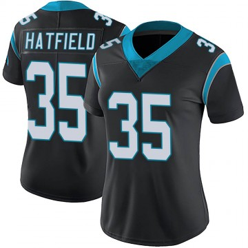 Women's Nike Carolina Panthers Dominique Hatfield Black Team Color Vapor Untouchable Jersey - Limited