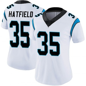 Women's Nike Carolina Panthers Dominique Hatfield White Vapor Untouchable Jersey - Limited