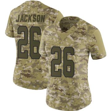 Women's Nike Carolina Panthers Donte Jackson Camo 2018 Salute to Service Jersey - Limited