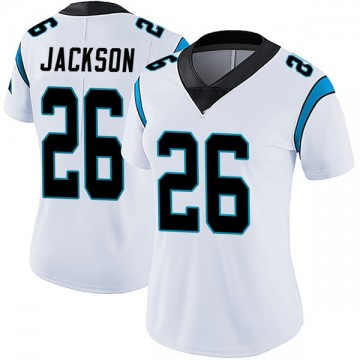 Women's Nike Carolina Panthers Donte Jackson White Vapor Untouchable Jersey - Limited