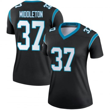 Women's Nike Carolina Panthers Doug Middleton Black Jersey - Legend