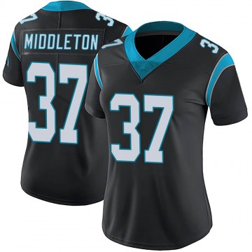 Women's Nike Carolina Panthers Doug Middleton Black Team Color Vapor Untouchable Jersey - Limited