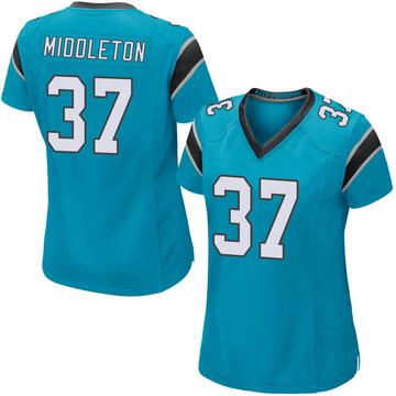 Women's Nike Carolina Panthers Doug Middleton Blue Alternate Jersey - Game