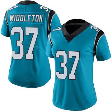 Women's Nike Carolina Panthers Doug Middleton Blue Alternate Vapor Untouchable Jersey - Limited