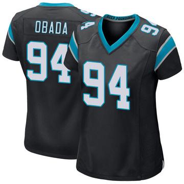 Women's Nike Carolina Panthers Efe Obada Black Team Color Jersey - Game