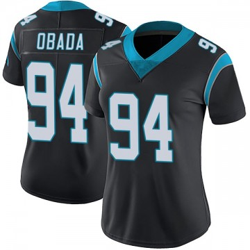 Women's Nike Carolina Panthers Efe Obada Black Team Color Vapor Untouchable Jersey - Limited