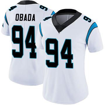 Women's Nike Carolina Panthers Efe Obada White Vapor Untouchable Jersey - Limited