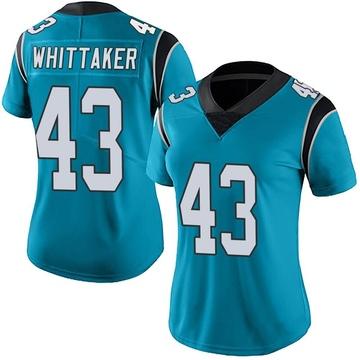 Women's Nike Carolina Panthers Fozzy Whittaker Blue Alternate Vapor Untouchable Jersey - Limited