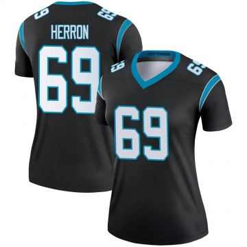Women's Nike Carolina Panthers Frank Herron Black Jersey - Legend
