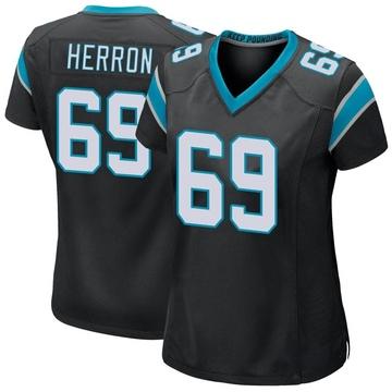Women's Nike Carolina Panthers Frank Herron Black Team Color Jersey - Game