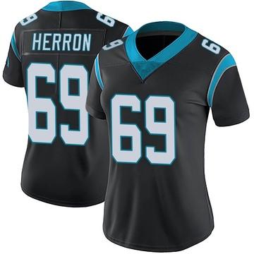 Women's Nike Carolina Panthers Frank Herron Black Team Color Vapor Untouchable Jersey - Limited