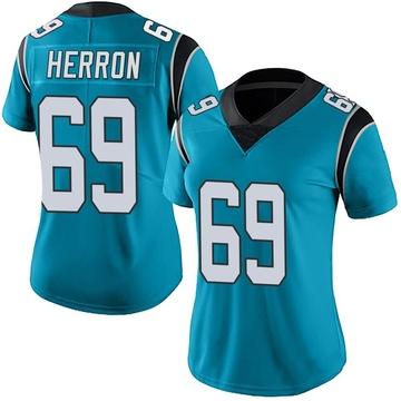 Women's Nike Carolina Panthers Frank Herron Blue Alternate Vapor Untouchable Jersey - Limited