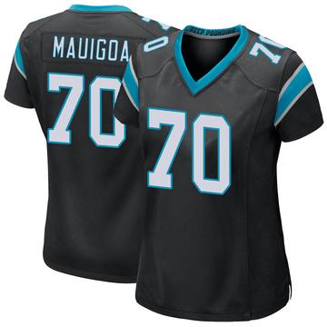 Women's Nike Carolina Panthers Frederick Mauigoa Black Team Color Jersey - Game