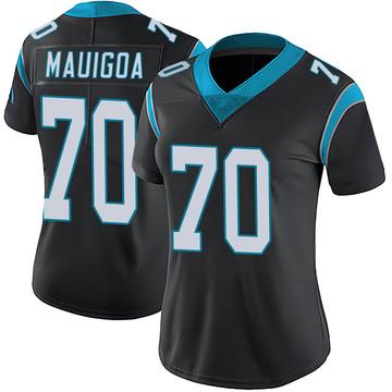 Women's Nike Carolina Panthers Frederick Mauigoa Black Team Color Vapor Untouchable Jersey - Limited
