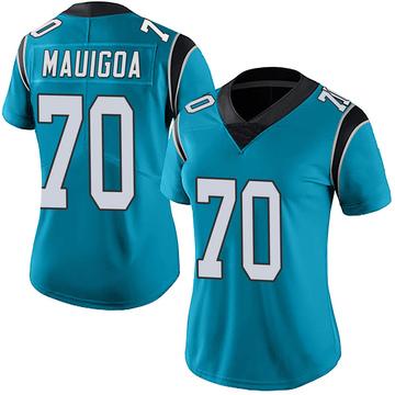 Women's Nike Carolina Panthers Frederick Mauigoa Blue Alternate Vapor Untouchable Jersey - Limited