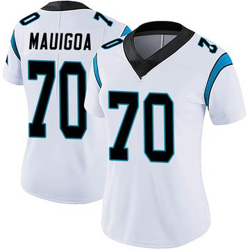 Women's Nike Carolina Panthers Frederick Mauigoa White Vapor Untouchable Jersey - Limited