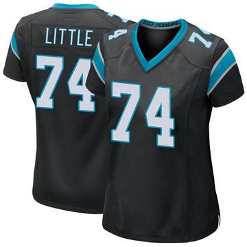 Women's Nike Carolina Panthers Greg Little Black Team Color Jersey - Game