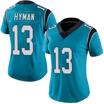 Women's Nike Carolina Panthers Ishmael Hyman Blue Alternate Vapor Untouchable Jersey - Limited