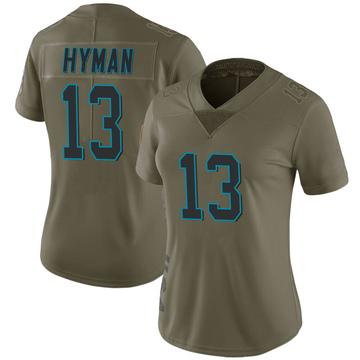 Women's Nike Carolina Panthers Ishmael Hyman Green 2017 Salute to Service Jersey - Limited