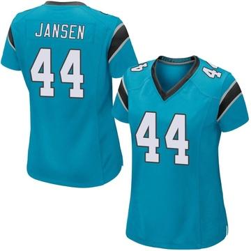 Women's Nike Carolina Panthers J.J. Jansen Blue Alternate Jersey - Game