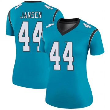 Women's Nike Carolina Panthers J.J. Jansen Blue Color Rush Jersey - Legend
