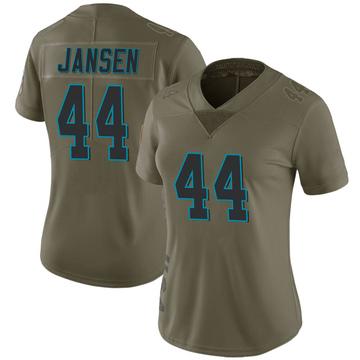 Women's Nike Carolina Panthers J.J. Jansen Green 2017 Salute to Service Jersey - Limited