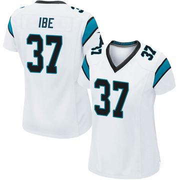 Women's Nike Carolina Panthers J.T. Ibe White Jersey - Game