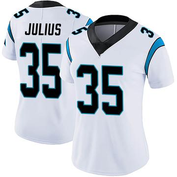 Women's Nike Carolina Panthers Jalen Julius White Vapor Untouchable Jersey - Limited
