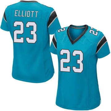 Women's Nike Carolina Panthers Javien Elliott Blue Alternate Jersey - Game