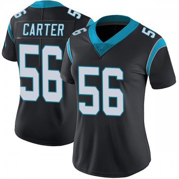 Women's Nike Carolina Panthers Jermaine Carter Black Team Color Vapor Untouchable Jersey - Limited