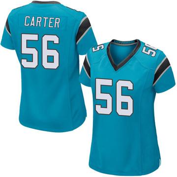 Women's Nike Carolina Panthers Jermaine Carter Blue Alternate Jersey - Game
