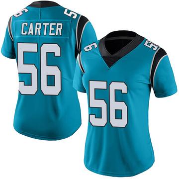 Women's Nike Carolina Panthers Jermaine Carter Blue Alternate Vapor Untouchable Jersey - Limited