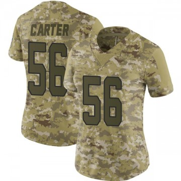 Women's Nike Carolina Panthers Jermaine Carter Camo 2018 Salute to Service Jersey - Limited
