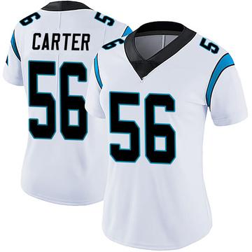 Women's Nike Carolina Panthers Jermaine Carter White Vapor Untouchable Jersey - Limited
