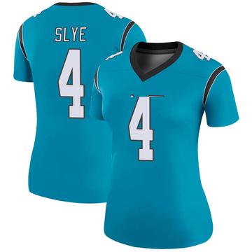 Women's Nike Carolina Panthers Joey Slye Blue Color Rush Jersey - Legend