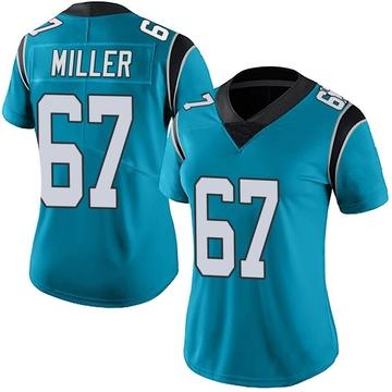 Women's Nike Carolina Panthers John Miller Blue Alternate Vapor Untouchable Jersey - Limited