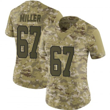 Women's Nike Carolina Panthers John Miller Camo 2018 Salute to Service Jersey - Limited